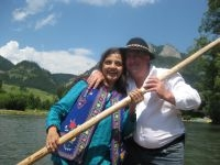 Ila from India in Pieniny mountains - rafting
